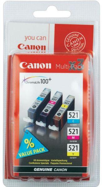 Canon Tintenpatrone CLI-521 Multipack (C/M/Y)