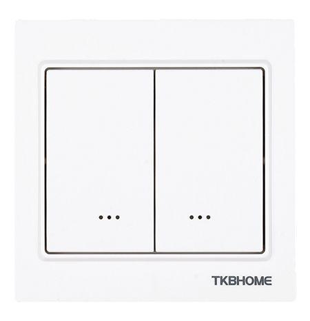 TKB Home Doppelrelais Wandschalter (Eckiger Rahmen)