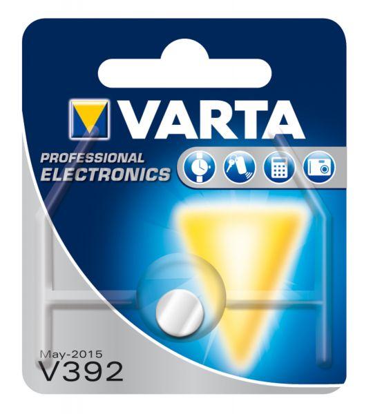 VARTA Knopfzellenbatterie Electronics V392 (SR41) Silber