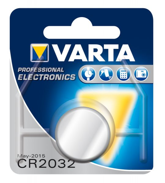 VARTA Knopfzellenbatterie Electronics CR2032 Lithium